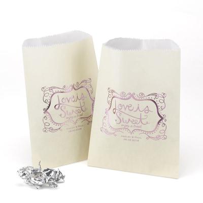 Love Is Sweet - Treat Bags - Ivory