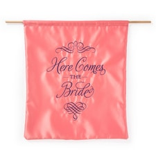 Elegant Here Comes the Bride Sign - Coral
