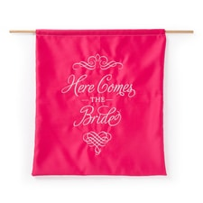 Elegant Here Comes the Bride Sign - Fuchsia