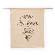 Elegant Here Comes the Bride Sign - Linen