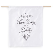 Elegant Here Comes the Bride Sign - Blank