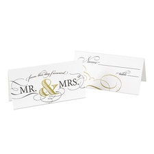 Golden Elegance - Place Card
