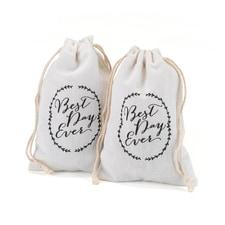 Cotton Favor Bags - Rustic Vines