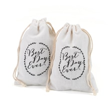 Cotton Favor Bags - Rustic Vines