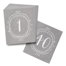 Charming Vintage - Table Number Cards (1-40)