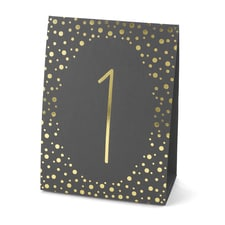 Polka Dot - Table Number Tents - Gold