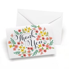 Retro Floral - Thank You Card and Envelope