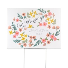 Retro Floral - Yard Sign