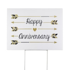 Happy Anniversary - Yard Sign