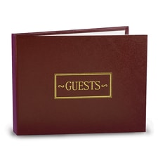 All Occasion - Guest Book - Burgundy