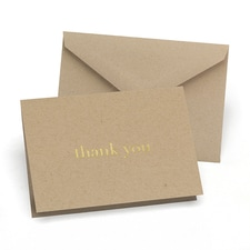 Golden Natural - Thank You Card and Envelope