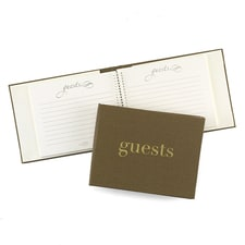 Golden Linen - Guest Book