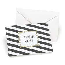 Stripes Galore - Thank You Card and Envelope