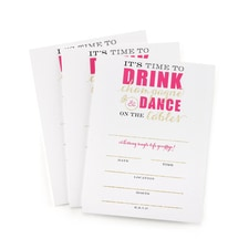 Champagne Dance - Bachelorette Invitation