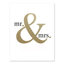 Glittering Mr. & Mrs. - Art Print