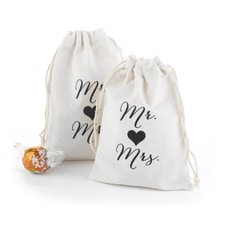 Mr. and Mrs. Cotton Favor Bags