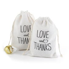 Love and Thanks Cotton Favor Bags