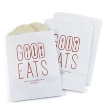 Good Eats Treat Bags - White - Personalized
