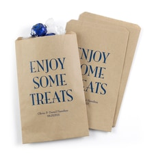 Enjoy Some Treats Treat Bags - Kraft - Personalized