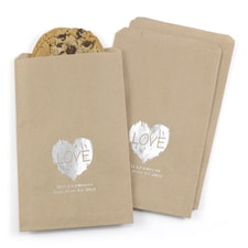 Brush of Love Treat Bags - Kraft - Personalized