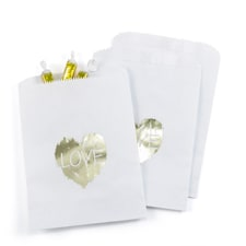Brush of Love Treat Bags - White - Design Only