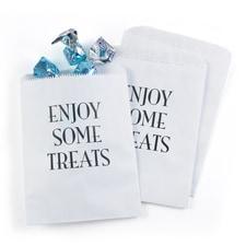 Enjoy Some Treats Treat Bags - White - Design Only