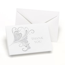 Paisley Hearts - Thank You Note