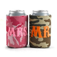 Mr. and Mrs. Camo - Can Coolers