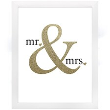 Glittering Mr. & Mrs. - Art Print - Framed