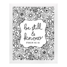 Be Still - Art Print - Framed