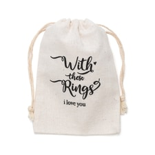 With these Rings - Wedding Ring Bag