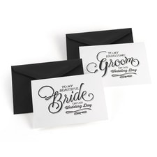 Beautiful Couple - Wedding Day Card Set