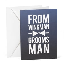 Wingman to Groomsman - Wedding Day Card