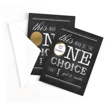 One Choice - Scratch Off Card - Groomsman