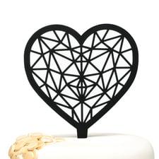 Geo Heart - Cake Pick
