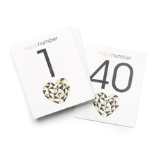 Geo Heart - Table Number Cards - 1 - 40