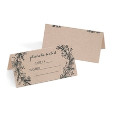Rustic Wreath - Place Card
