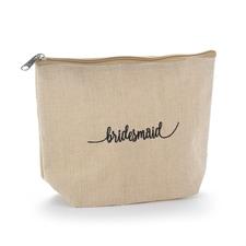 Bridesmaid Natural Jute Cosmetic Bag