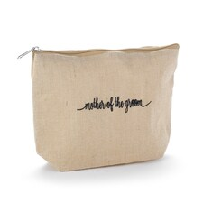 Mother of the Groom Natural Jute Cosmetic Bag
