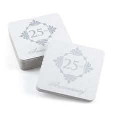 Silver Anniversary Coasters