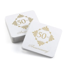 Golden Anniversary Coasters