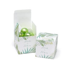 Greenery Favor Box - Personalized