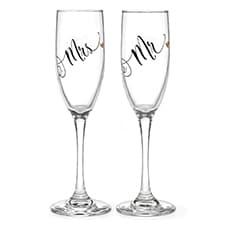 Mr. & Mrs. Black & Gold Flutes