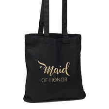 Maid of Honor Black Tote Bag