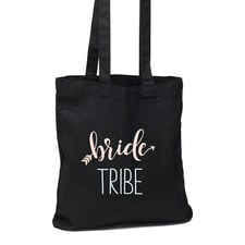 Bride Tribe Black Tote Bag