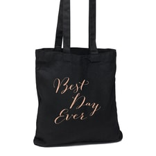 Best Day Ever Black Tote Bag