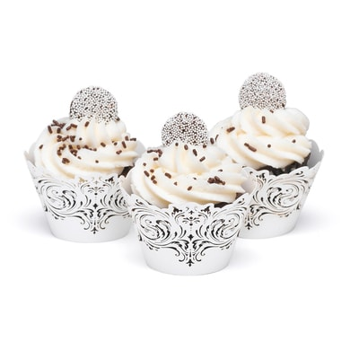 Damask and Filigree Laser Cut Cupcake Wrap
