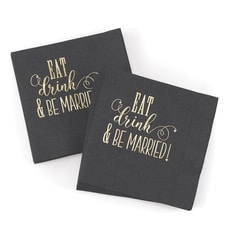 Eat, Drink, Be Married - Napkins