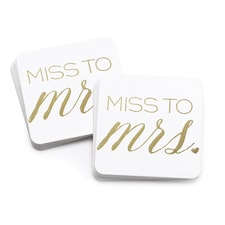 Miss to Mrs. - Coasters