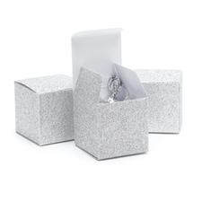 Glitter Favor Box - Silver